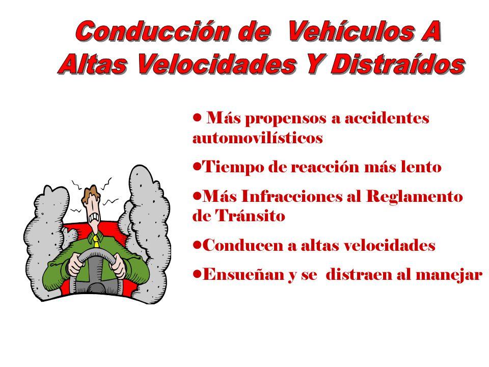 Conducción de Vehículos A Altas Velocidades Y Distraídos
