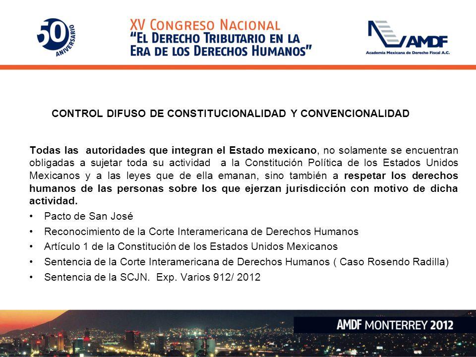 CONTROL DIFUSO DE CONSTITUCIONALIDAD Y CONVENCIONALIDAD