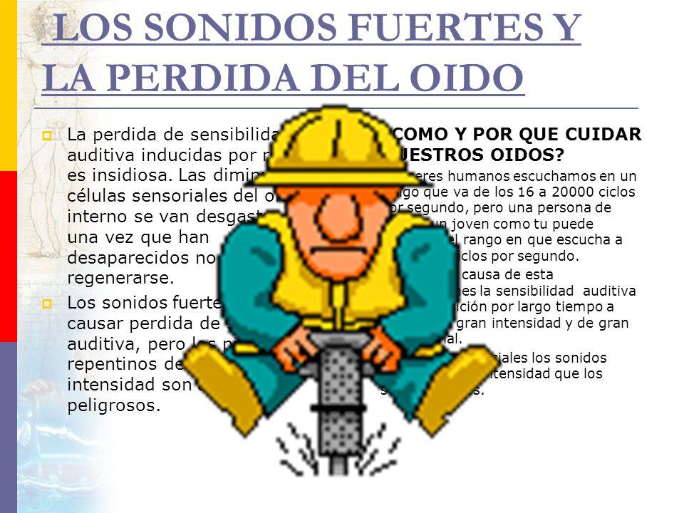 LOS SONIDOS FUERTES Y LA PERDIDA DEL OIDO
