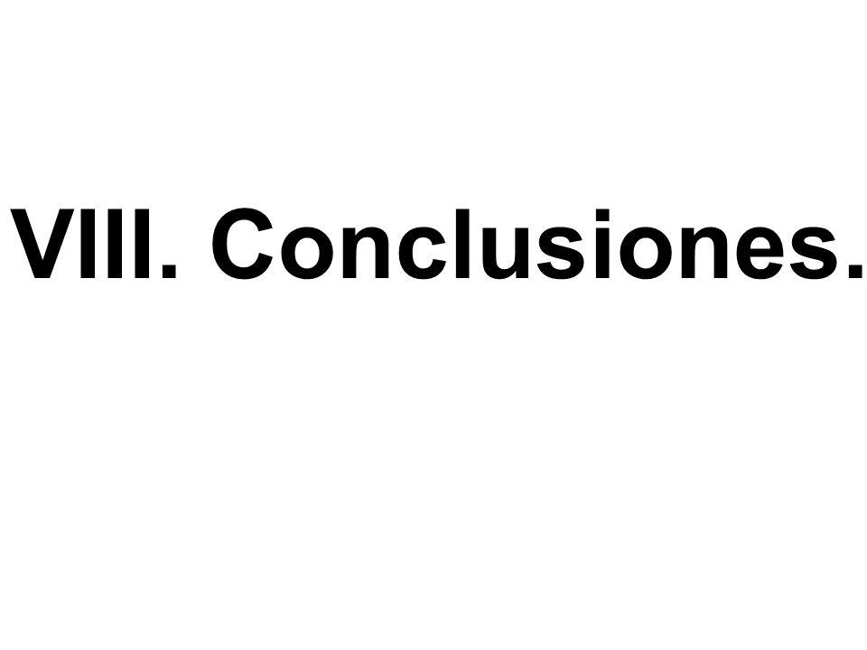 VIII. Conclusiones.