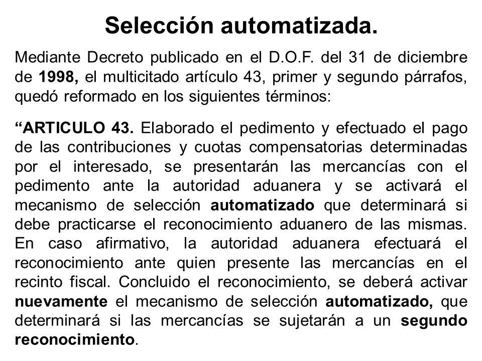 Selección automatizada.