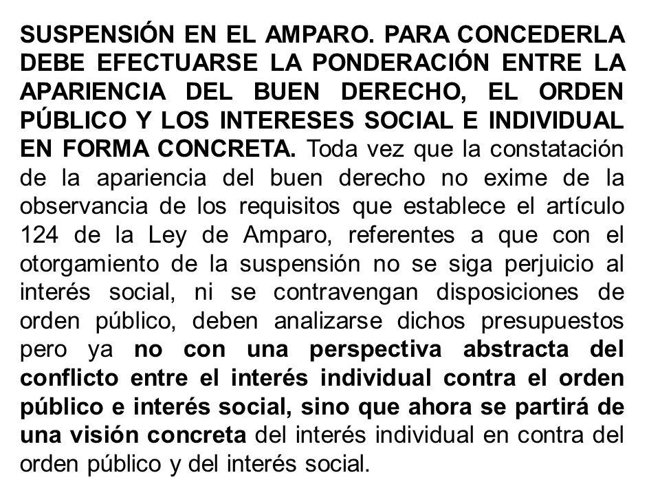 SUSPENSIÓN EN EL AMPARO