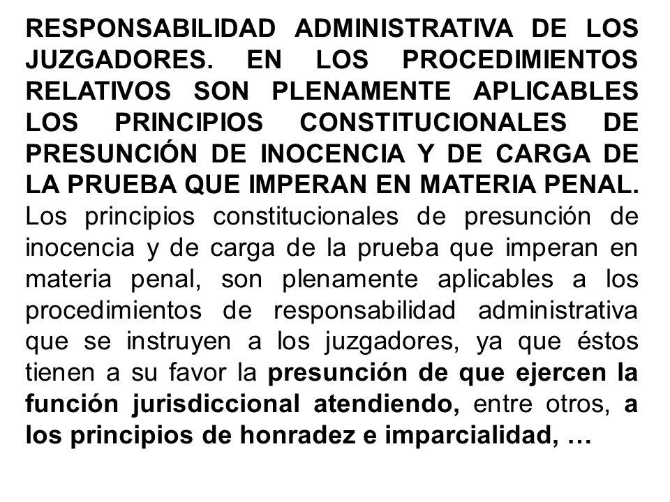 RESPONSABILIDAD ADMINISTRATIVA DE LOS JUZGADORES