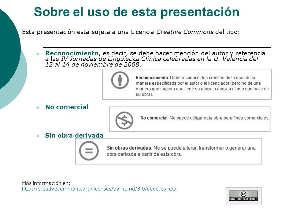 Sobre el uso de esta presentación