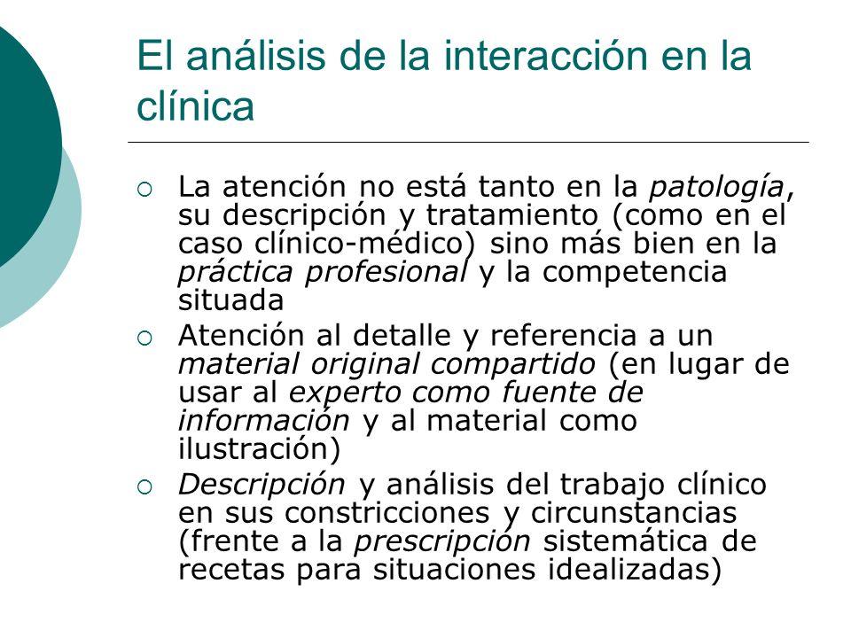 El análisis de la interacción en la clínica