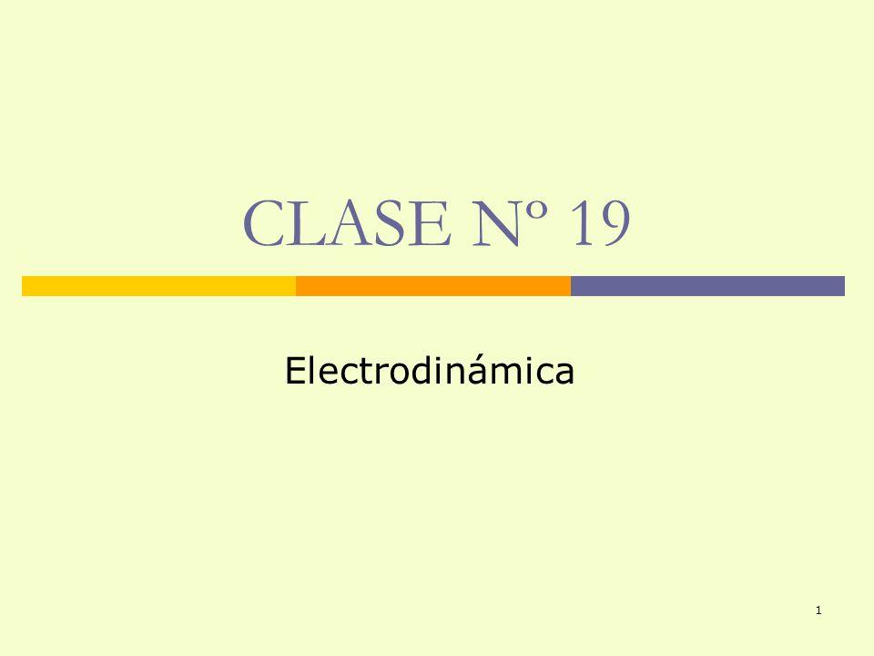 CLASE Nº 19 Electrodinámica