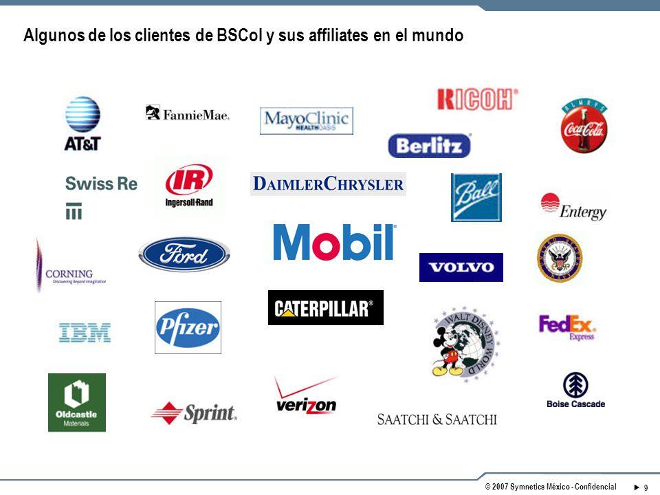 Algunos de los clientes de BSCol y sus affiliates en el mundo