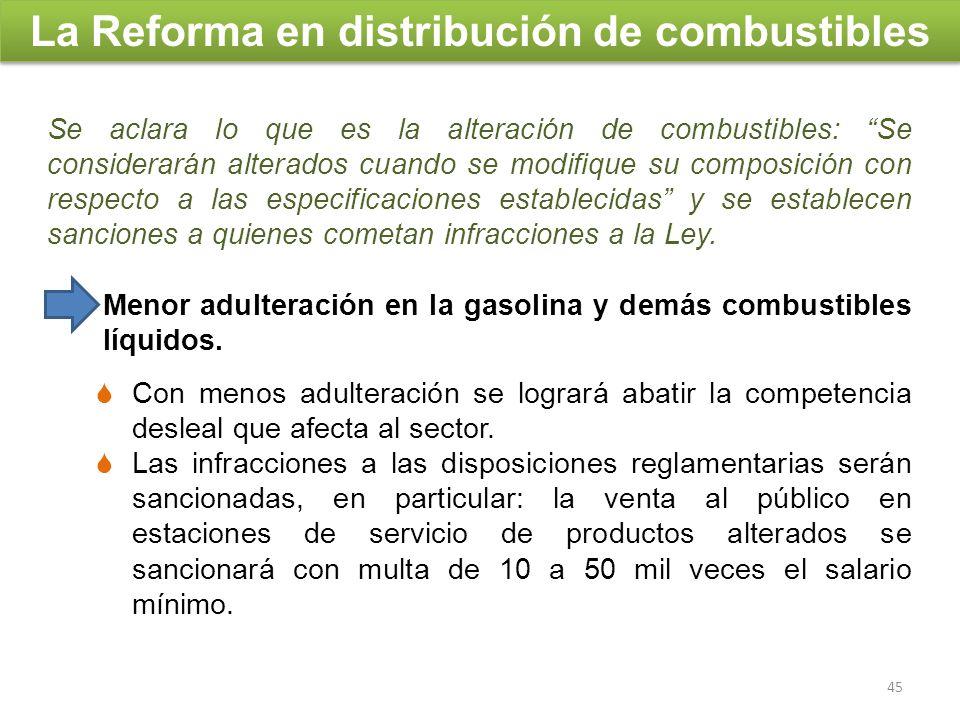 La Reforma en distribución de combustibles