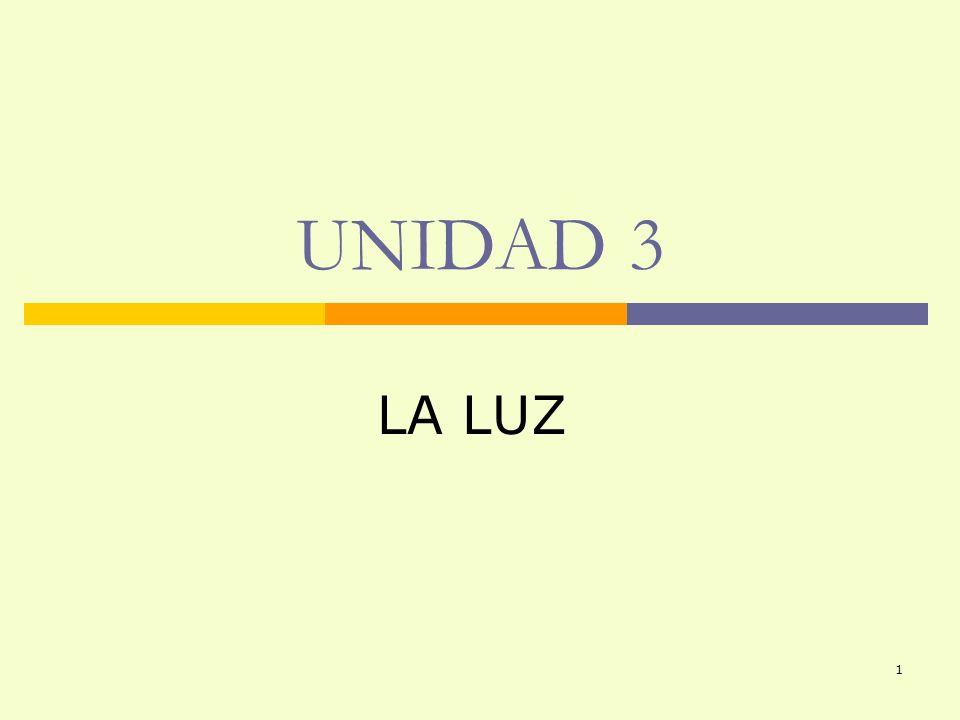 UNIDAD 3 LA LUZ