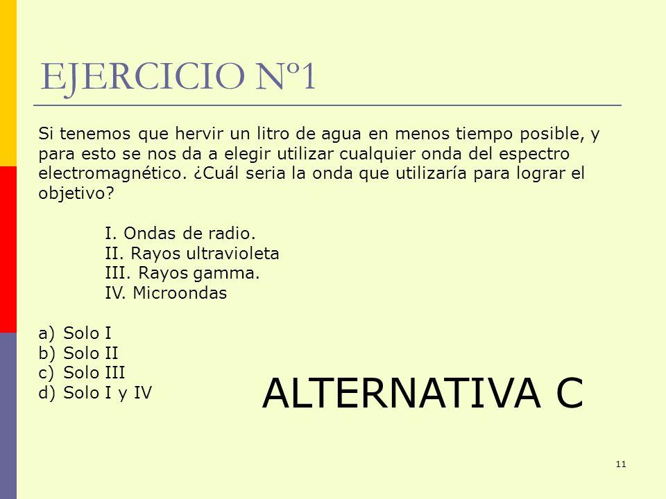 EJERCICIO Nº1 ALTERNATIVA C