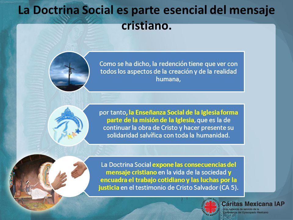 La Doctrina Social es parte esencial del mensaje cristiano.