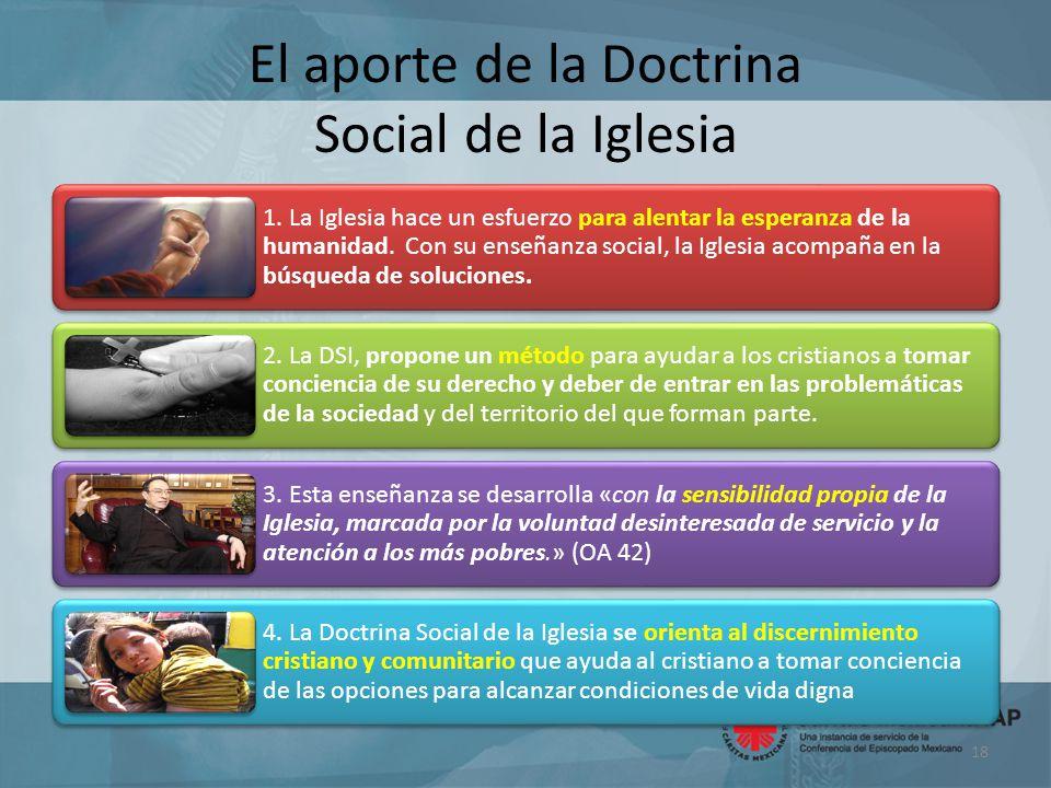 El aporte de la Doctrina Social de la Iglesia