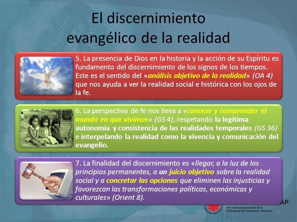 El discernimiento evangélico de la realidad