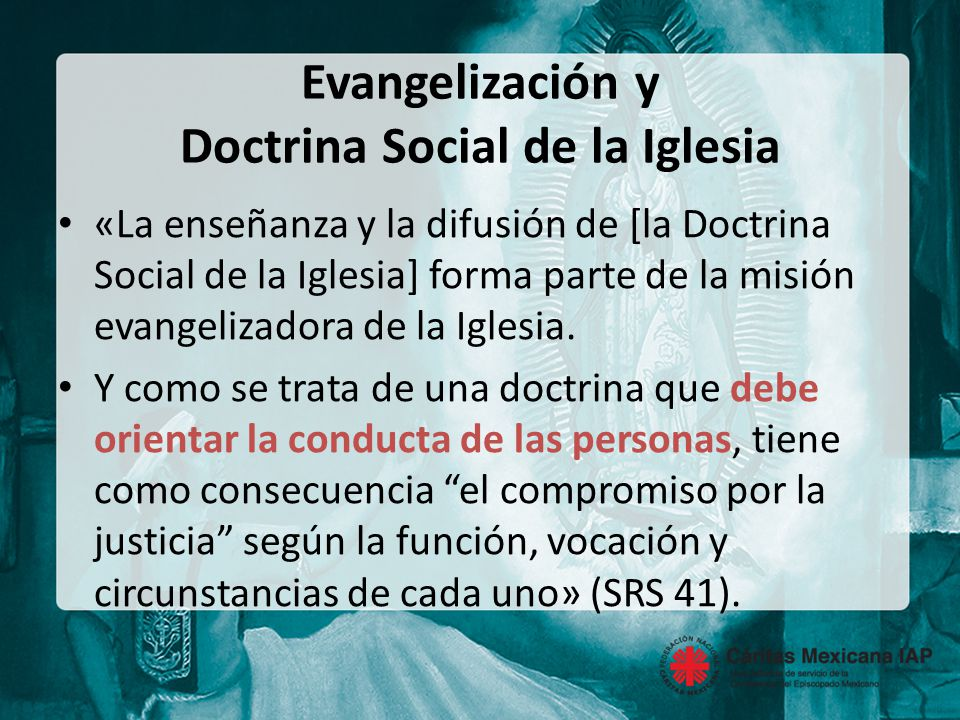 Evangelización y Doctrina Social de la Iglesia