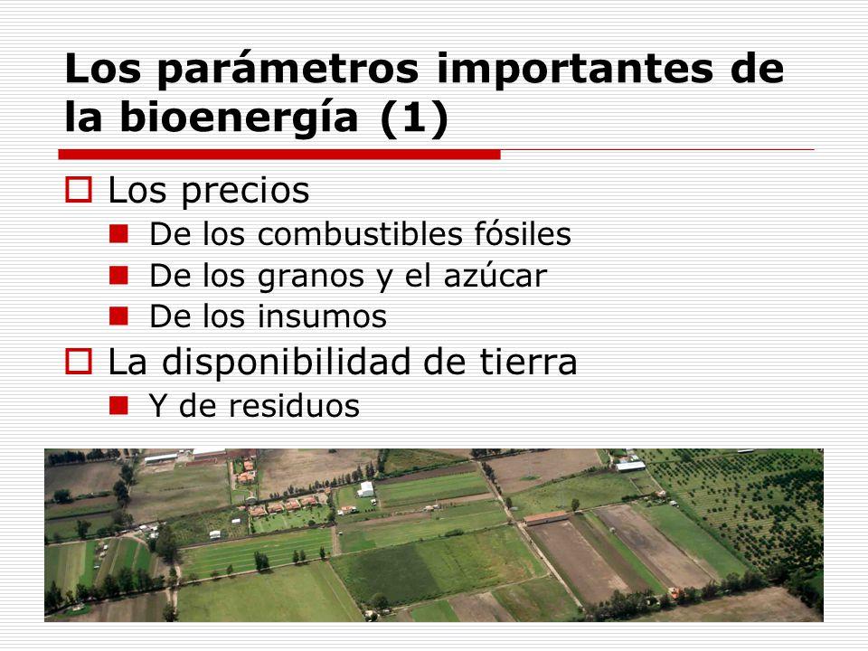 Los parámetros importantes de la bioenergía (1)