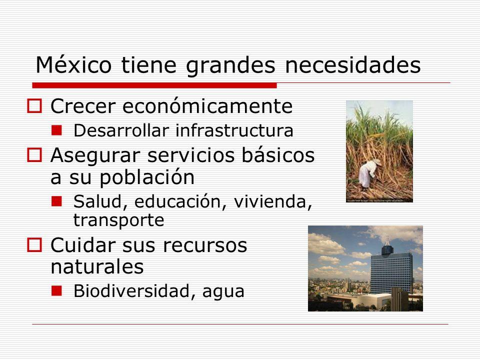 México tiene grandes necesidades