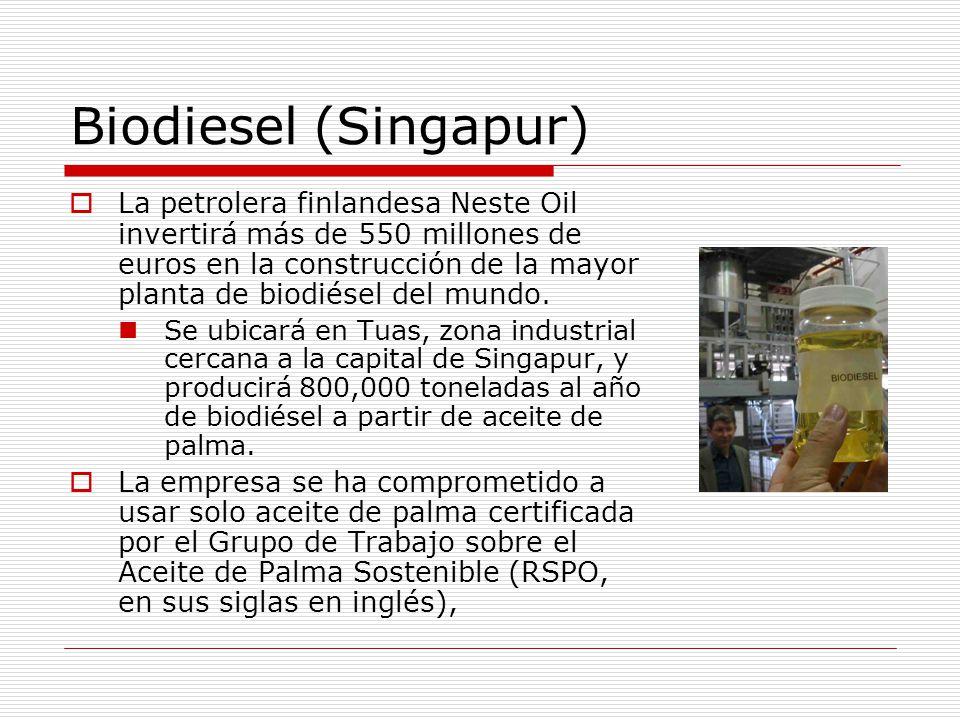 Biodiesel (Singapur)