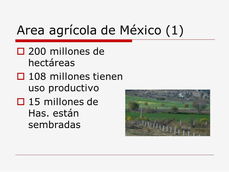 Area agrícola de México (1)