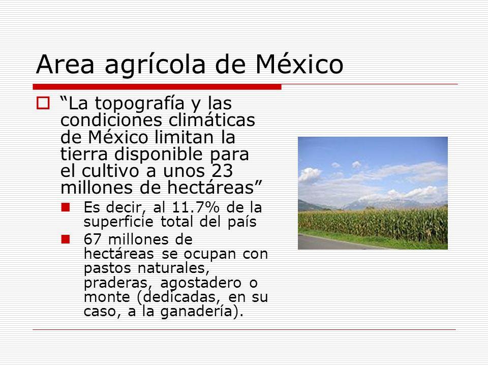 Area agrícola de México
