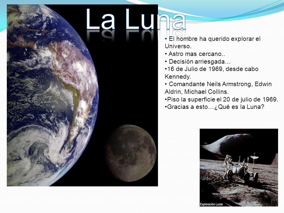 La Luna El hombre ha querido explorar el Universo. Astro mas cercano..