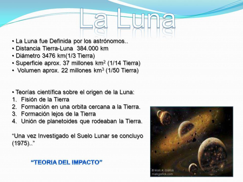 La Luna La Luna fue Definida por los astrónomos..