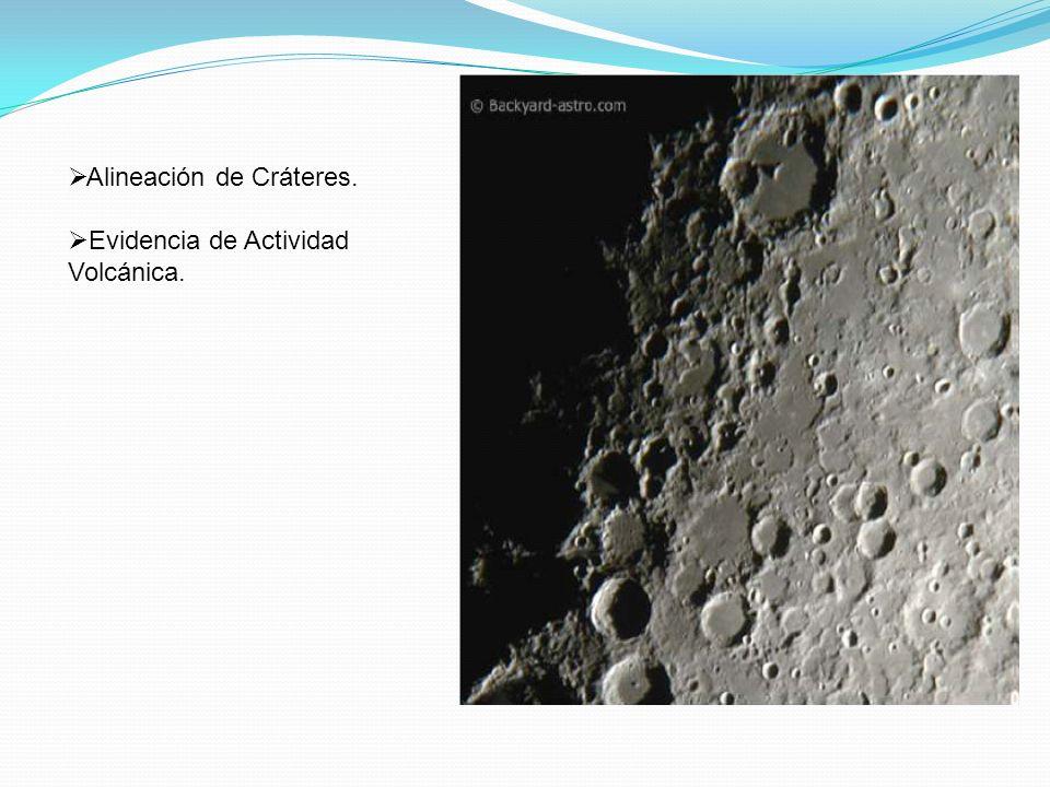 Alineación de Cráteres.