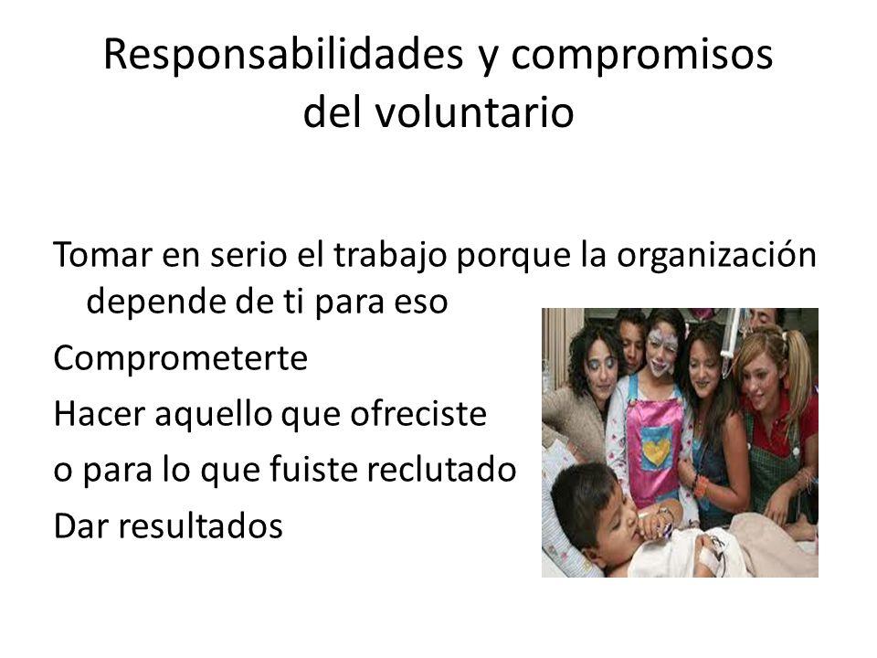Responsabilidades y compromisos del voluntario