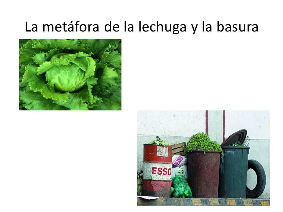 La metáfora de la lechuga y la basura