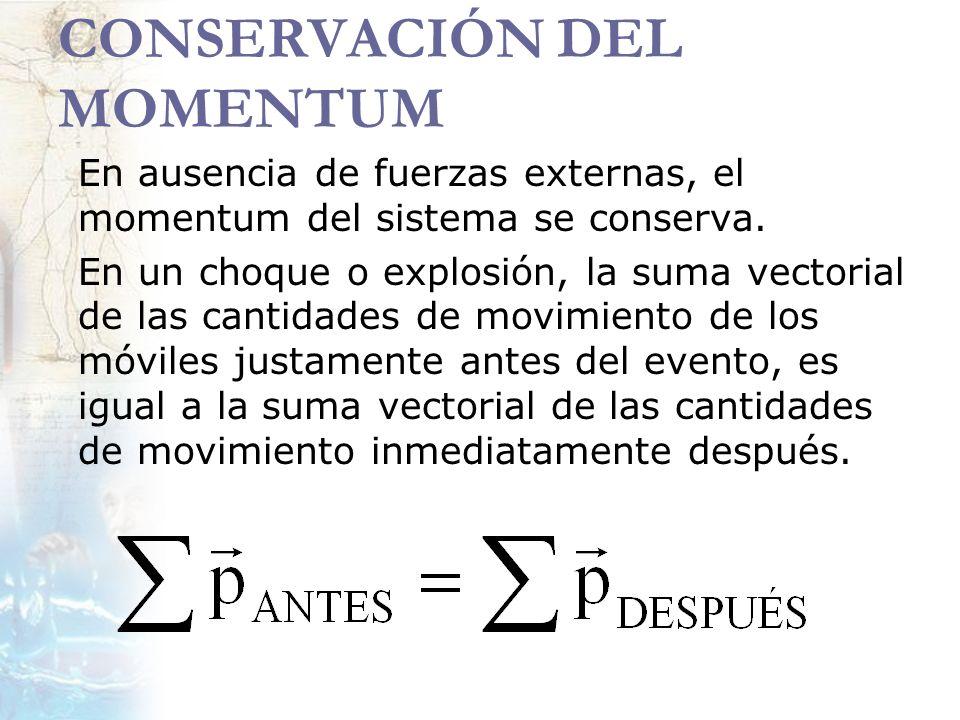 CONSERVACIÓN DEL MOMENTUM