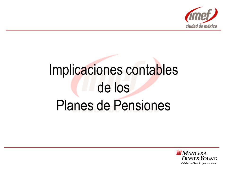 Implicaciones contables de los Planes de Pensiones