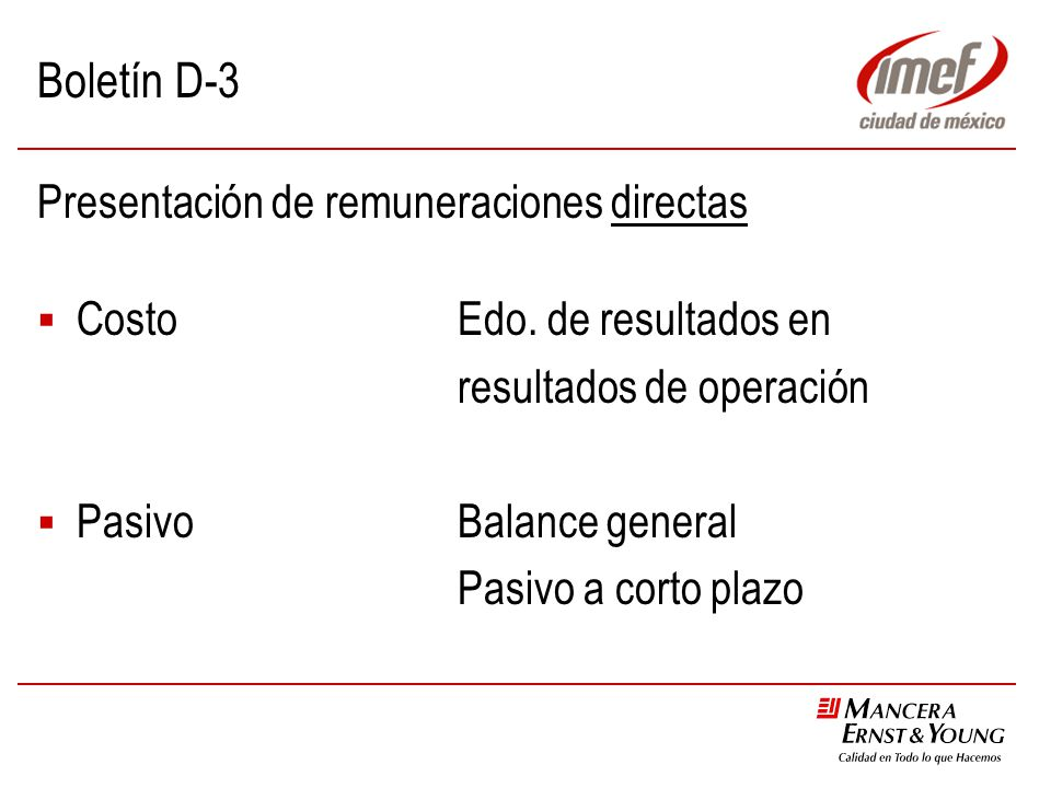 Boletín D-3 Presentación de remuneraciones directas