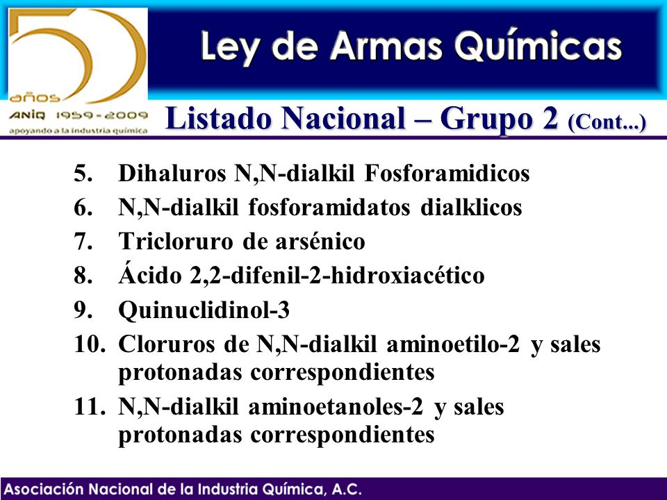 Listado Nacional – Grupo 2 (Cont...)