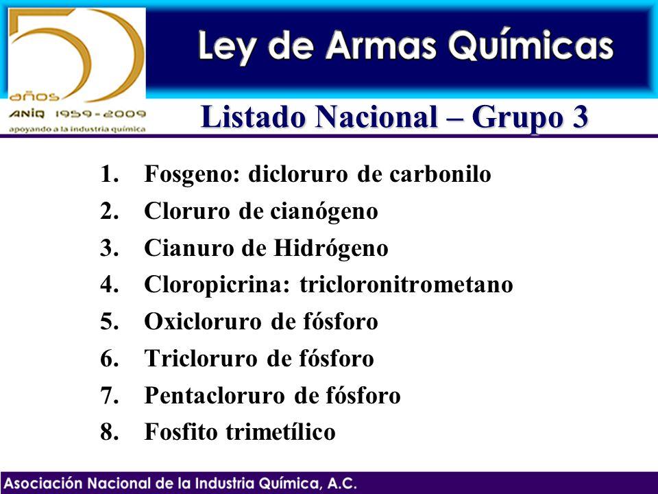 Listado Nacional – Grupo 3