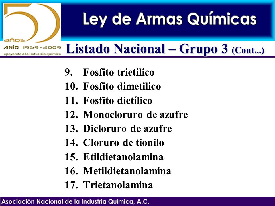 Listado Nacional – Grupo 3 (Cont...)