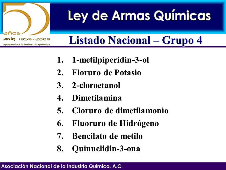 Listado Nacional – Grupo 4