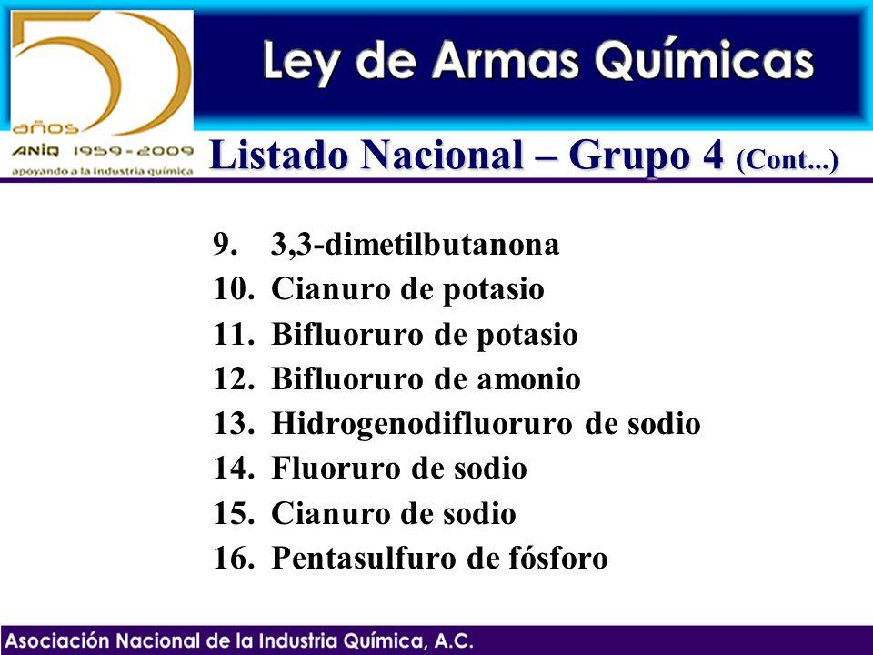 Listado Nacional – Grupo 4 (Cont...)