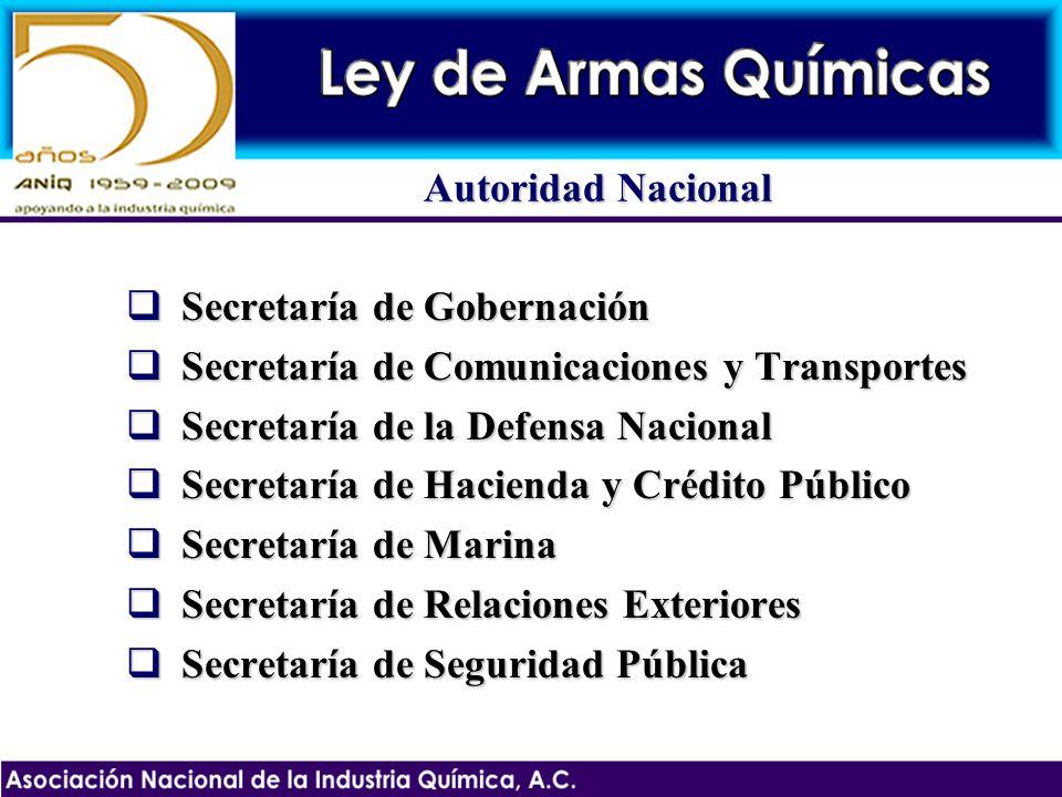Autoridad Nacional Secretaría de Gobernación. Secretaría de Comunicaciones y Transportes. Secretaría de la Defensa Nacional.