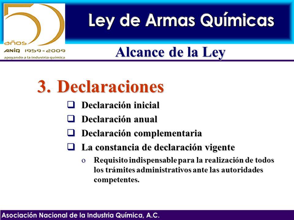 Declaraciones Alcance de la Ley Declaración inicial Declaración anual
