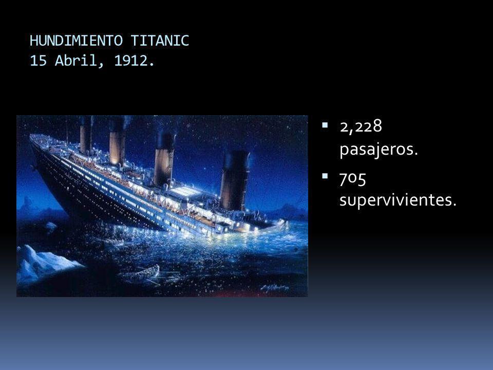 HUNDIMIENTO TITANIC 15 Abril, 1912.
