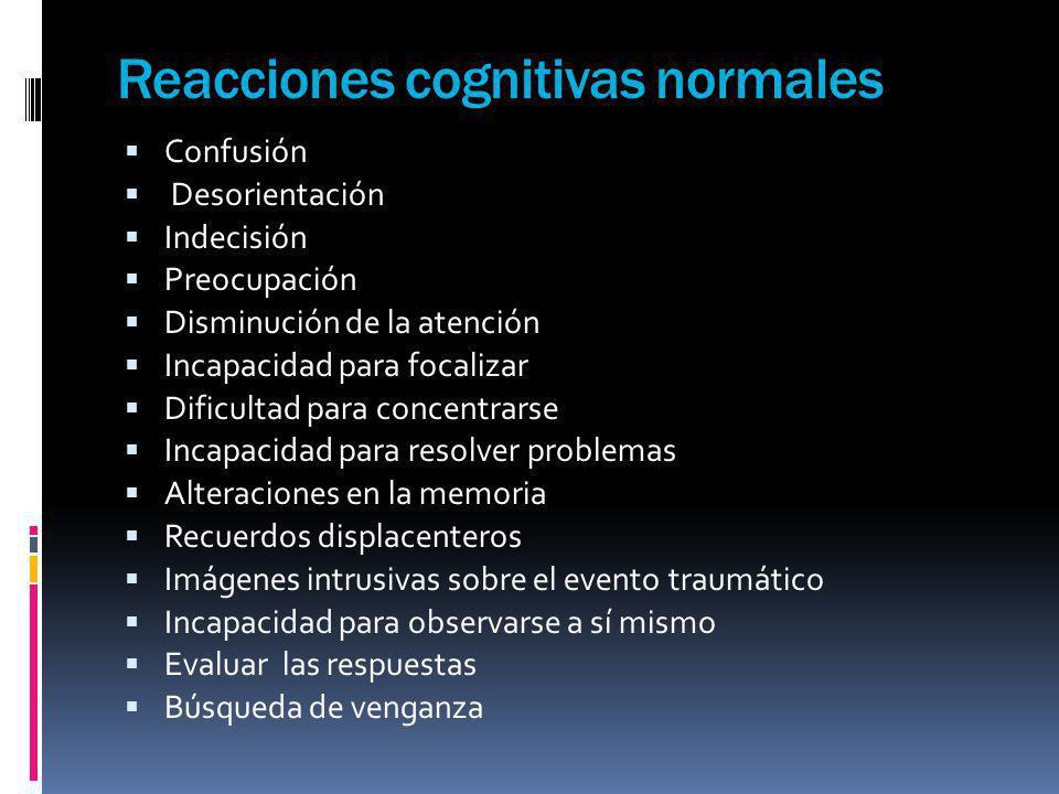 Reacciones cognitivas normales