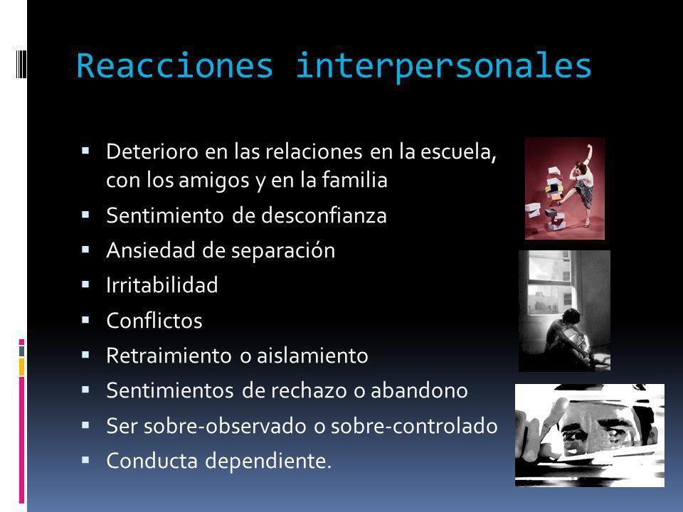 Reacciones interpersonales