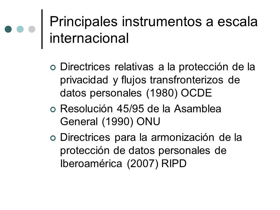 Principales instrumentos a escala internacional