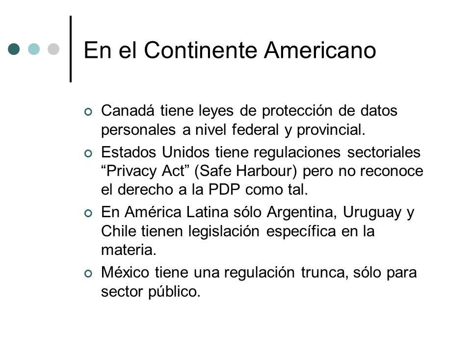 En el Continente Americano