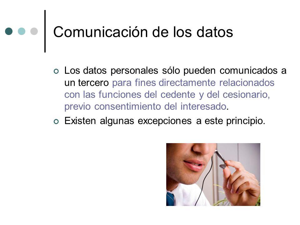 Comunicación de los datos