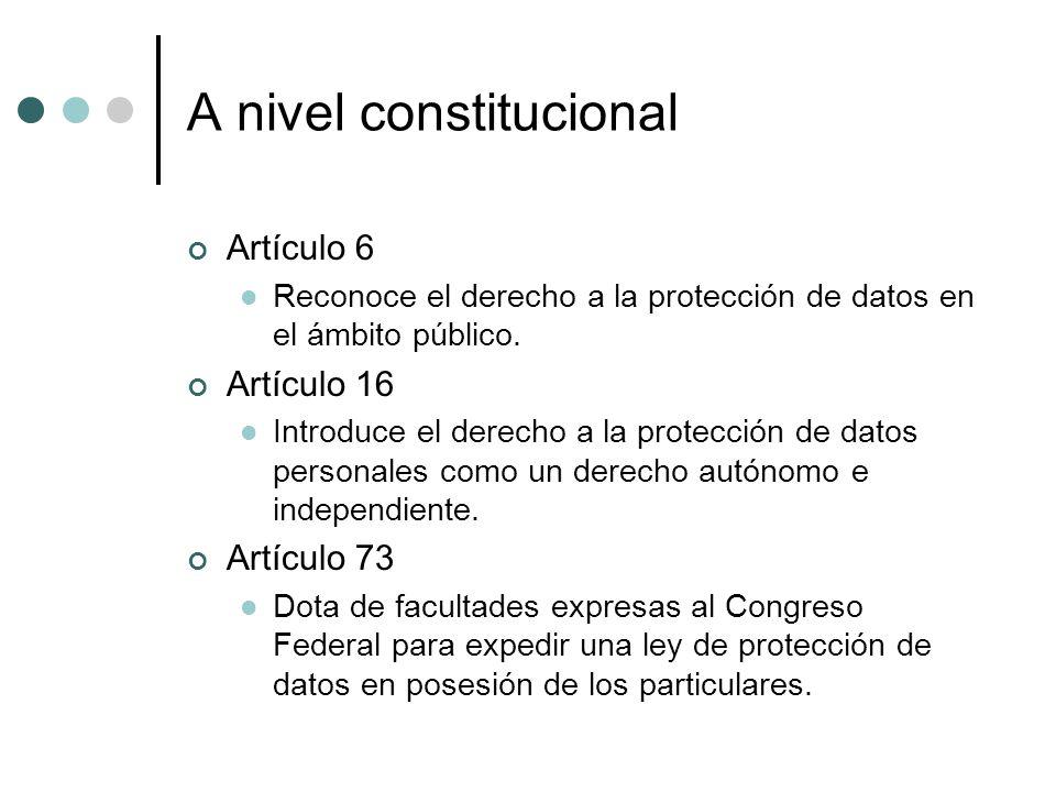 A nivel constitucional