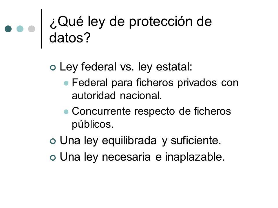¿Qué ley de protección de datos
