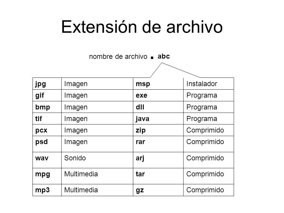 Extensión de archivo . nombre de archivo abc jpg Imagen msp Instalador