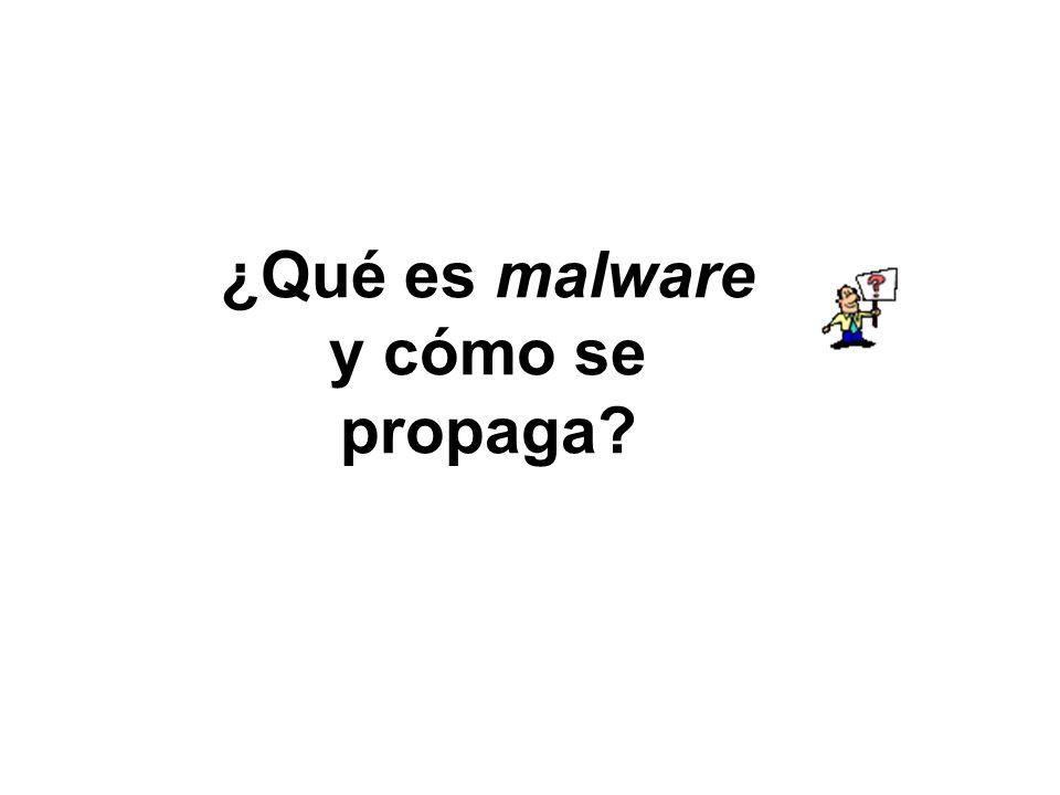 ¿Qué es malware y cómo se propaga