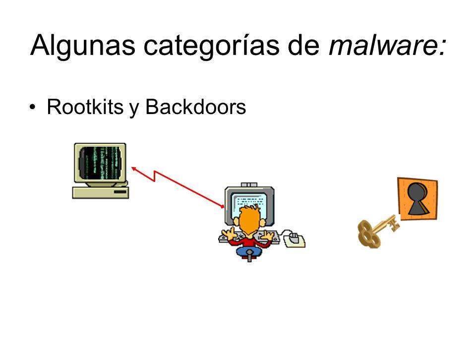 Algunas categorías de malware: