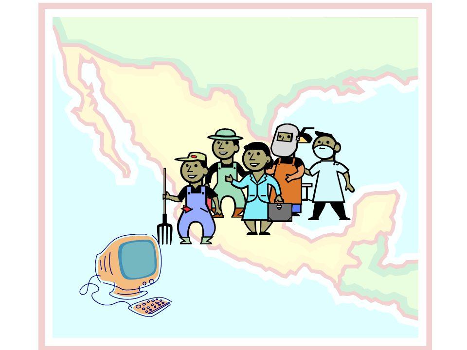 En México hay una computadora por cada 5 habitantes y casi 2 millones de usuarios de Internet.